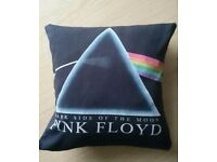 Pink Floyd, Dark side of the moon cushion, black cotton, 30 x 30cm, 12 x 12""