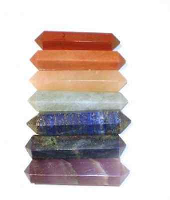 7 Chakra Chakren Obelisk Set Edelsteine  Energie L
