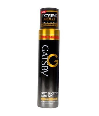 - Gatsby Set and Keep Hair Spray Extreme Hold 250ml Free Shipping