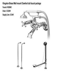 wall mount clawfoot tub faucet