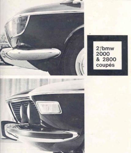 Bmw Z3 Brochure: BMW 2000CS