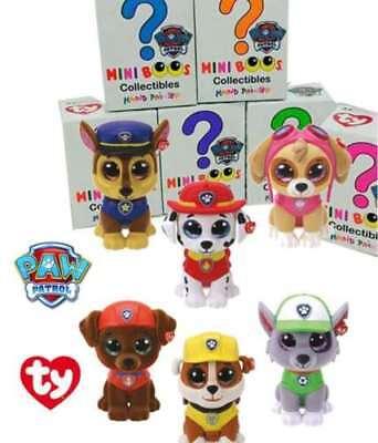SET OF 6 TY Mini Boo Paw Patrol Figures - Chase Skye Rocky Zuma Marshall Rubble