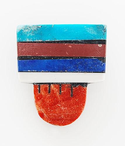Native American Santo Domingo Handmade Stone on Stone Pin/Pendant by Mary Tafoya