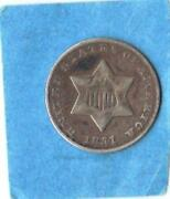 1851 O Three Cent