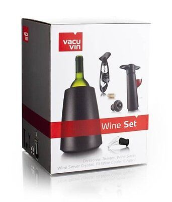 Vacu Vin Wine Set, Corkscrew, Wine Saver, Wine Server, Wine Cooler Elegant