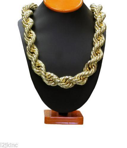 thick gold rope necklace ebay