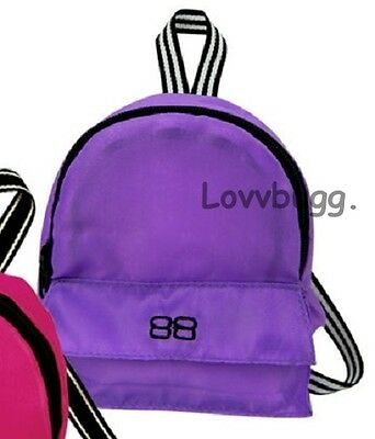 "Lovvbugg Purple Backpack for 18"" American Girl Doll School Supplies Accessory"