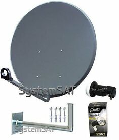 Satellite Dish 110cm With Wall Mount and LNB