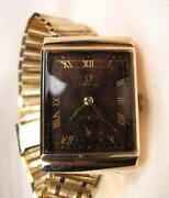 18K Gold Omega Mens Watch
