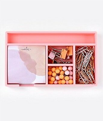 Elum Design Pink Watercolor Desk Organizer