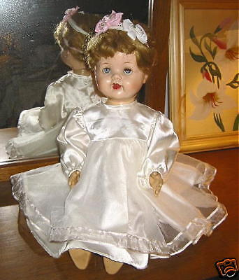 """Saucy Walker 1955 baby girl Doll Ideal toys 22 """"  mid century american made"""