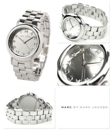 womens marc jacobs silver watch ebay