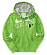Green Zip Up Hoodie