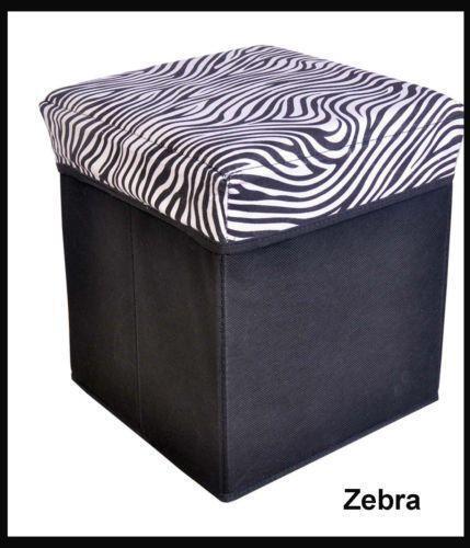 Zebra Storage Ottoman Ebay