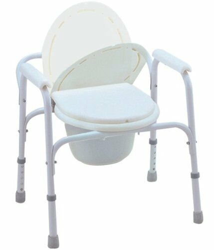 3-in-1 Mobile Shower Commode Wheelchair Portable Bedside ...