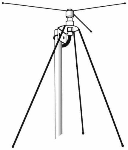 HUSTLER DCL-B SCANNER BASE ANTENNA w / 50ft coax BNC Plug