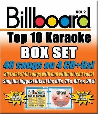 Billboard Top 10 Karaoke Box Set Vol 2 40 Songs 4 Cd's NEW - Karaoke Box Set