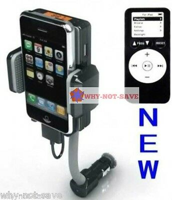 Fm Transmitter & Car Charger For Ipod Touch Iphone Nano 2...