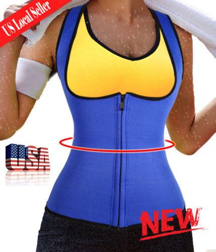 Waist Trainer Neoprene Body Hot Sweat Shaper Fat Burner Zipp