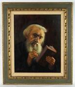 Rabbi Oil Painting