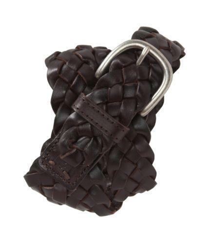 womens brown braided leather belt ebay