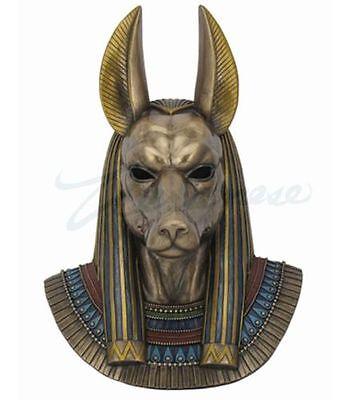 Egyptian Anubis Mask Wall Plaque Statue Sculpture - HOME DECOR