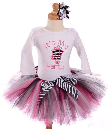 Zebra 1st Birthday Outfit