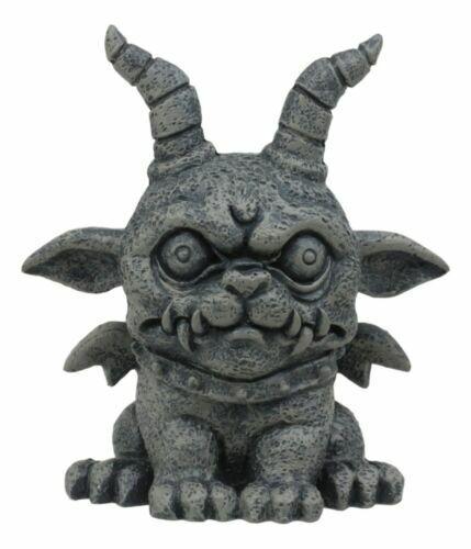 Ebros Gothic Horned Bulldog Gargoyle Agamon Figurine Small Fantasy Decor