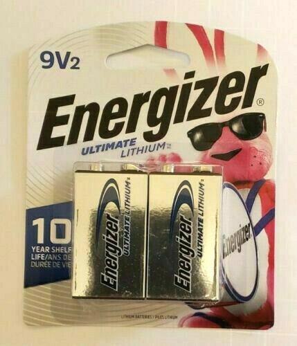 Energizer L522BP2 Lithium Batteries, 9v, 2/pack