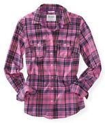 Womens Plaid Button Up Shirts