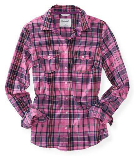 Womens Plaid Button Up Shirts Ebay