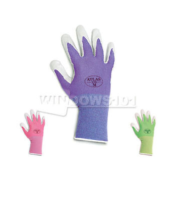 6 Pairs Atlas Showa 370 Nitrile Gloves Garden Work Paint Landscaping (ANY COLOR) Nitrile Garden Gloves
