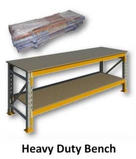 Heavy Duty Bench 900H x 2820W x 880D with 18mm Top & Shelf