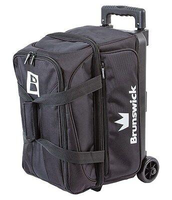 Brunswick Blitz Black 2 Ball Roller Bowling Bag