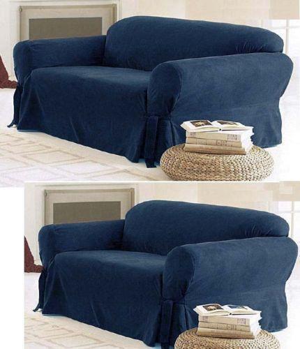 2 Piece Sofa Loveseat Slipcover Ebay