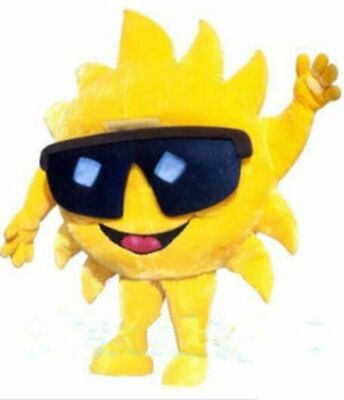 Best Quality Mr Sun Mascot Costume Cartoon Christmas Party Dress Free Ship Adult - Best Costume Party