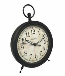 Westclox Battery Operated Quartz Analog Top Ring Decor Alarm Clock with Snooze