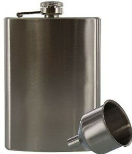 New-8oz-Stainless-Steel-Liquor-Hip-Flask-with-Funnel-Set-US-FAST-FREE-SHIPPING