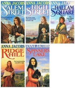 Anna-Jacobs-Gibson-Family-Saga-5-Collection-Books-Set-Ridge-Hill-Spinners-Lake