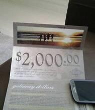 $2000 Travel Accommodation Certificate Voucher Australian Getaway Flagstaff Hill Morphett Vale Area Preview