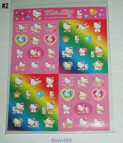 VERY CUTE! 2006 Sanrio HELLO KITTY Sticker Sheet #2 from JAPAN! NEW!