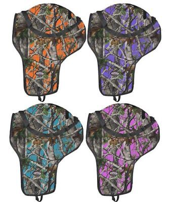 Showman REAL OAK CAMO Western SADDLE CARRIER Nylon Full Zipper & Shoulder Strap Western Saddle Carrier