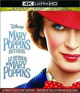 Mary Poppins Returns 4K Ultra HD Blu-ray Digital, 2019, 2-Disc Set NEW  - $10.98