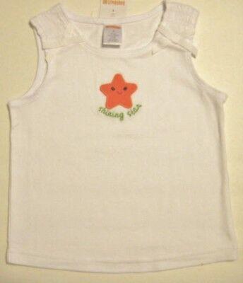 New GYMBOREE Girls Size 3 White Sleeveless Round Neck Tops Blouse
