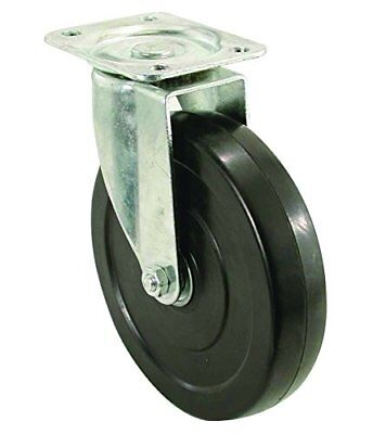 Shepherd Hardware 9787 5 Rubber Swivel Plate Caster 200-lb Load Capacity