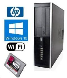 WINDOWS 10 HP PRO TOWER DESKTOP PC INTEL CORE i3 4GB DDR3 128SSD DVDRW HDD
