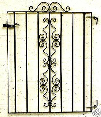OXFORD GATE WROUGHT IRON METAL FENCING/RAILINGS PANEL