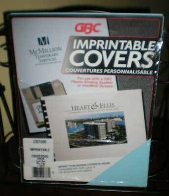 Gbc Velobind Imprintable Covers Light Blue 23 Sets