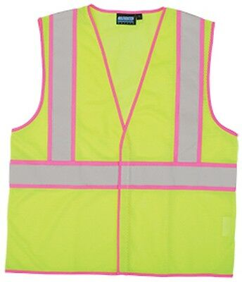 S730 Yellow And Pink Safety Vest High Visibility Size Small - 5xl Class 2 Rated