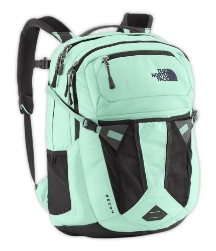 The North Face Womens Recon Backpack Surf Green Asphalt